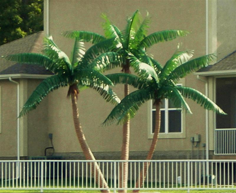outdoor artificial palm