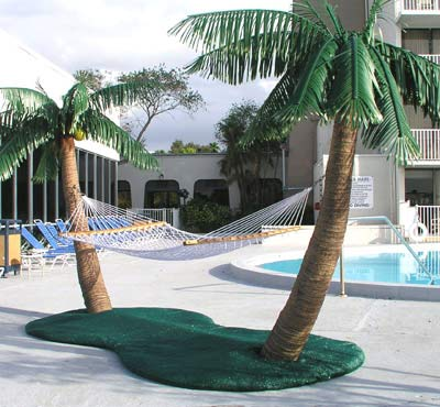 Custom Made Palm Trees Hammocks