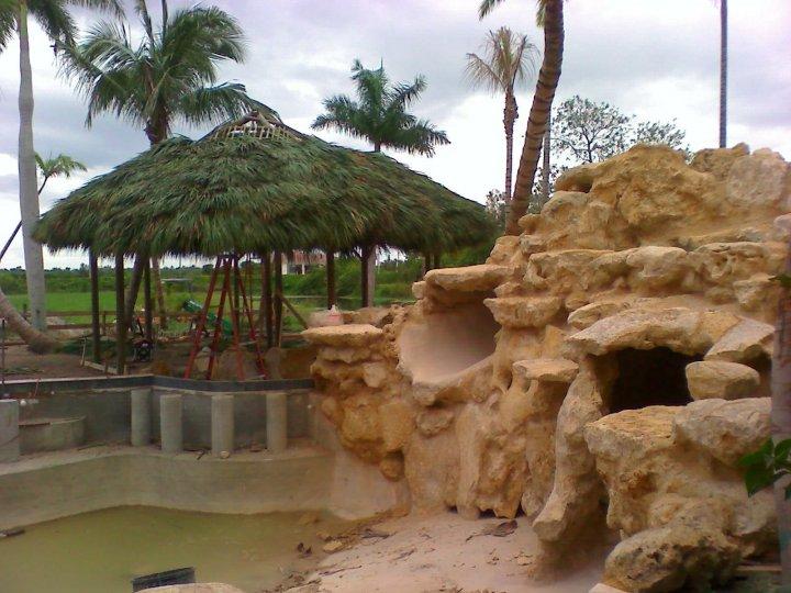 Custom Made Palm Trees Residential Tiki Huts