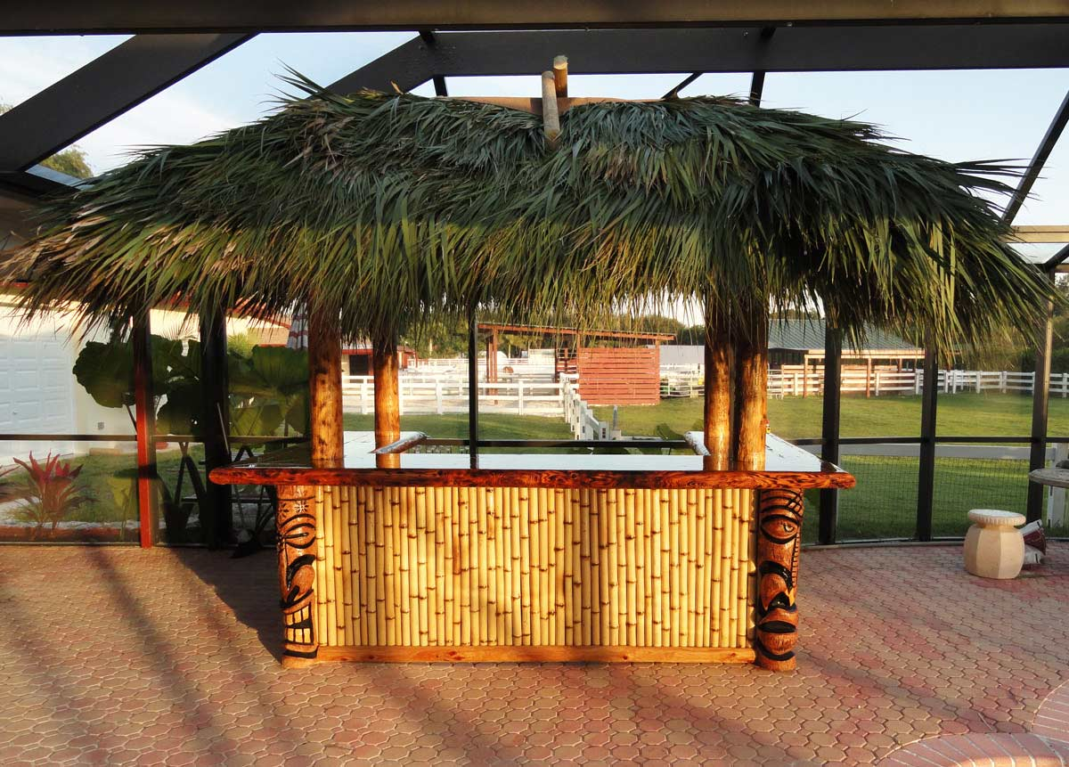 image of a custom built residential tiki hut