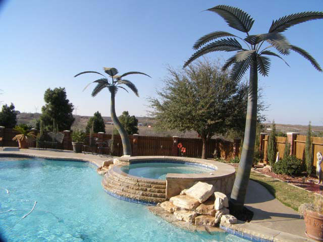 image of a fabricated palm tree